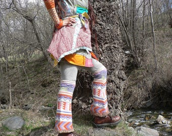 colorful woolen gaiters