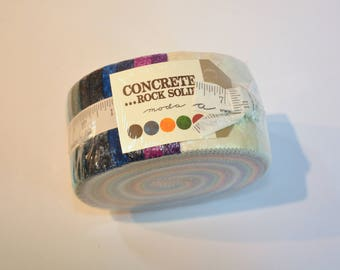 Jelly roll Concrete Rock Solid of Moda Quilt Fabric  cotton Out of print hard to find