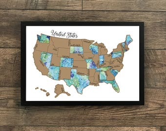 Watercolor scratch off map united states of america usa us watercolor scratch off map united states of america usa us traveling gumiabroncs Image collections
