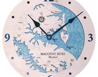 "Magothy River, Maryland 12"" Clock"