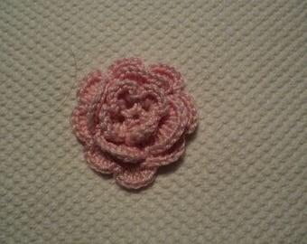 SET of 10 flowers ROSES to CROCHET for EMBELISSEMENT ref: z37