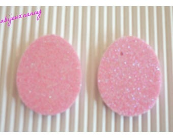 Easter egg foam, pink glitter, sold in packs of 2.