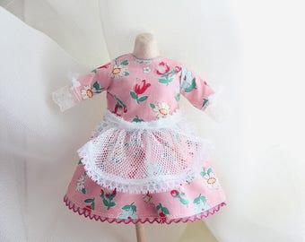 blythe/kukuclara sweet pink flower dress set