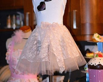 Girls Tutu Skirt. Ribbon edge tutu skirt. Party skirt, tulle skirt lined circle skirt, net skirt, birthday skirt, girls skirt