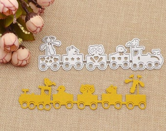 Cutting dies and embossing Model train baby 13.7cmx4.2cm