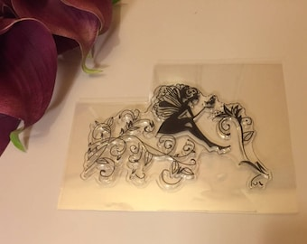 stamp clear transparent fairy arabesque end