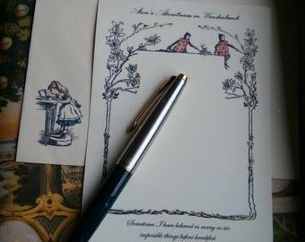 Alice's Adventures In Wonderland - Handmade Embossed Notelets Set A6 - Personalisation Welcome!