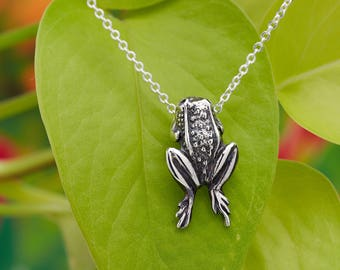 Mystic Creature Frog Necklace Sterling Silver