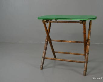 Vintage Bamboo Folding Games / Card Table