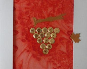 "greeting card in silk ""collection @evysoie harvest"""