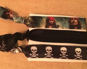 Disney Pirates of the Caribbean hair ties/bracelets set
