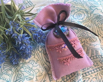 Butterfly purple Medallion fabric Lavender bag