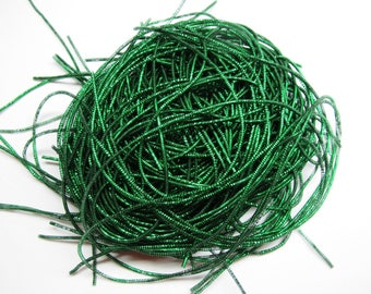 10 CM PURL CURLY GREEN COUTURE EMERALD 1.5 MM STRAND