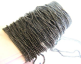 BALL CHAIN EXTRA FINE JEWELRY 30 CMS IN 30CMS HEMATITE 1 MM