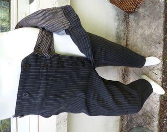 pants vintage 1900's tuxedo