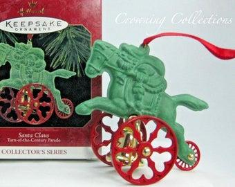 1997 Hallmark Santa Claus Turn of the Century Parade Keepsake Ornament 3rd in Series #3 Metal Bell