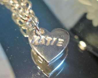 Personalised silver charm