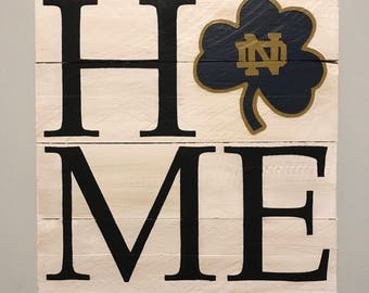Notre Dame HOME // Custom // Gifts for Her // Gifts for Him // Wedding // Pallet / UND / College / University / Fighting Irish // ND / Home