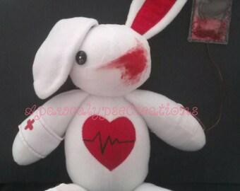 """Menhera Bunny Plush """"Drips"""""""