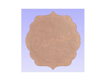 Unfinished Wood Decorative Plaque Cutout #15 - DIY - Wreath Accent, Door Hanger, Ready to Paint & Personalize