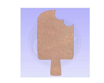 POPSICLE - Unfinished Wood cutout - DIY - Wreath Accent - Summer - Door Hanger - Ready to Paint & Personalize