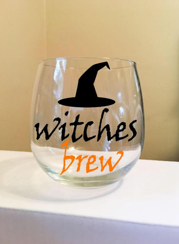 Witches Brew Stemless Wine Glass