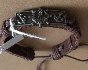 Leather Maritime Bracelet