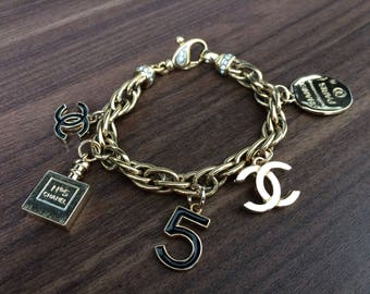 Pretty Bracelet with Chanel Charms