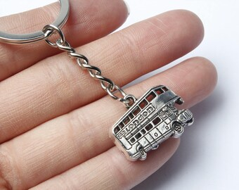 LONDON CALLING Key Chain | British Key Chain | London Key Ring | Underground | British Key Chain | Big Ben | Double Decker