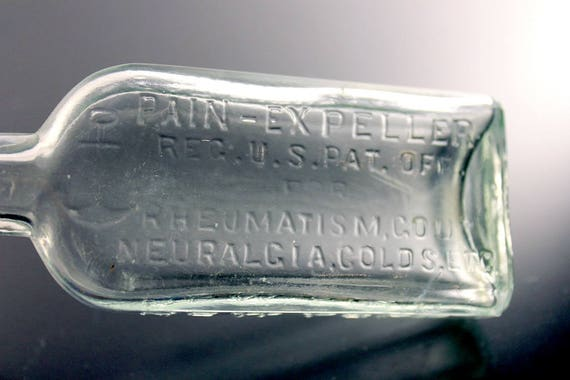 Antique Bottle, F.A.D. Richter& Co., Pain-Expeller, Embossed, Embossed Anchor, Medicine Bottle, Cure Bottle, Patent Medicine, Quack Medicine