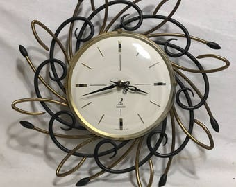 Clock pendulum JAZ Transistor Metal Made in France Vintage 70s