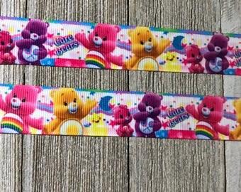 """Care Bear Ribbon 7/8"""", Rainbow Bear Ribbon"""