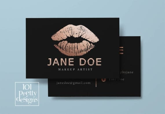 Lipsense business card rose gold foil printable business card design il570xn colourmoves