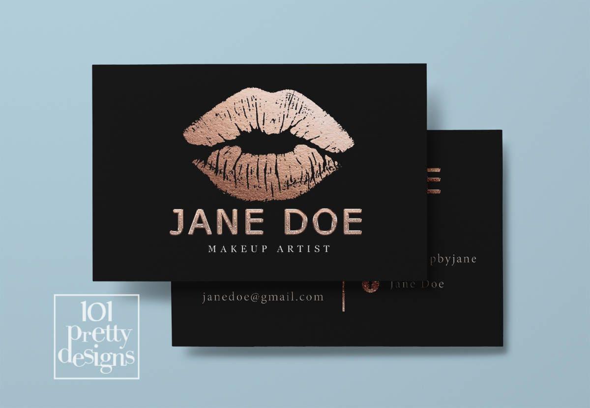 Lipsense business card rose gold foil printable business card description your business card magicingreecefo Gallery