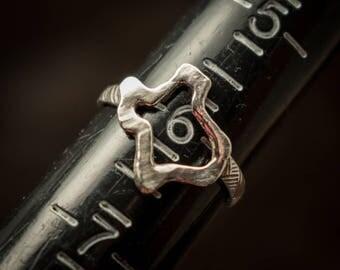 Silver Texas ring