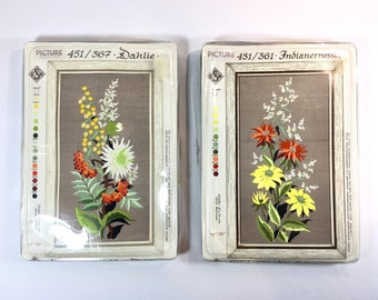 Wildflower Embroidery Kit Rare German Kits EHS New in Package and Complete 451/367 Dahlia 451/361 Indian Nettle