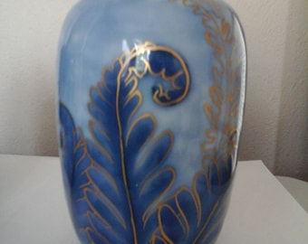 An early20thc French art deco studio ceramic  vase of Camille Tharaud