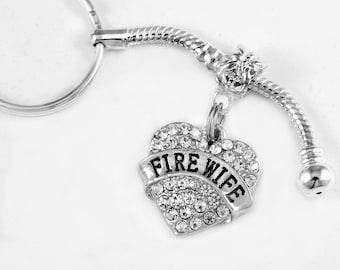 Fire wife keychain Fire wife key chain Fire wife Gift Fire wife gift Fire wife jewelry Fire wife charm Jewelry best jewelry gift