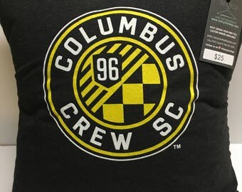 Columbus Ohio Soccer T-Shirt Pillow 16x16 Upcycled One of a Kind