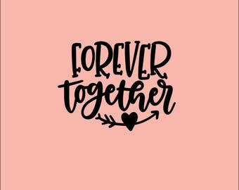 FOREVER TOGETHER SILKSCREEN Cookie Stencil, Mesh Stencil