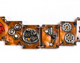 Steampunk Bracelet; Steampunk Jewelry; Metal Bracelet; Metal Link Bracelet