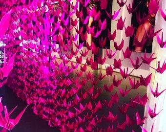 Event origami decorations, origami cranes, decorative wedding decor - reservation listing
