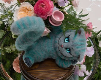Cheshire Cat Art Doll from Alice in Wonderland