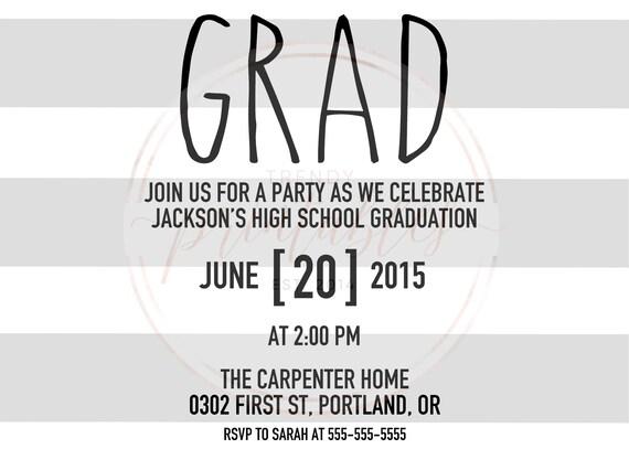 Abschluss Party Einladung, Abschlussfeier, Grad Party Laden, Graduierung  Einladung, College Graduation Laden, High School Grad [253]
