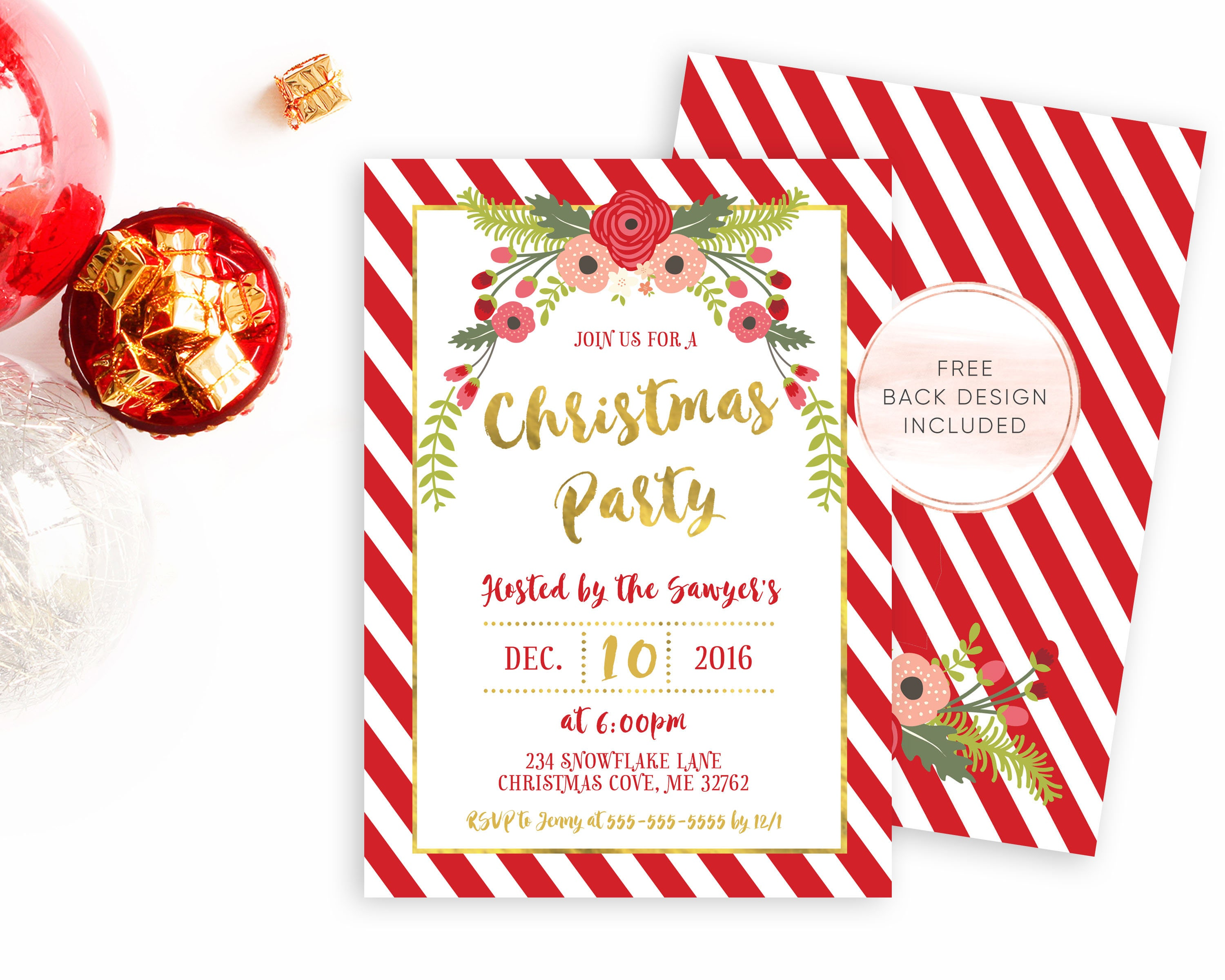Invitation Letter Christmas Party Images - Party Invitations Ideas