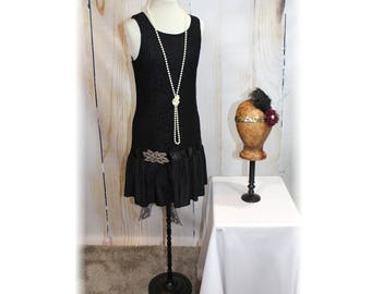 1920's Flapper / Gatsby / Chicago / Downton Abbey / Roaring 20's Costume-Small (I39)
