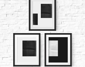 Minimalist art set, Set of 3 prints, Wall art set, Modern art, Minimalist art, Printable art, Large wall art, Modern Black and white art