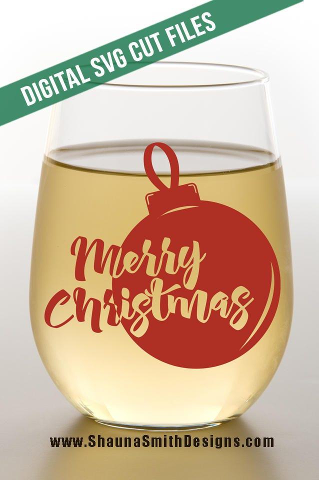 Merry Christmas Svg Christmas Wine Svg Christmas Svg