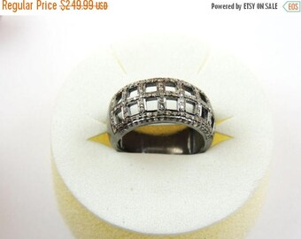 Valentine Day Sale 1 PC Pave Diamond  Ring - 925 sterling Silver Diamond  Ring Size-7.5 RD050