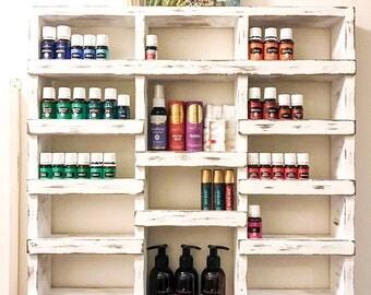 Essential Oil shelf, Wood Shelf, Essential oil storage, nail polish shelf, wood shelf, hanging shelf, essential oil holder, apothecary shelf